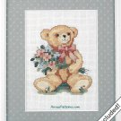 Weekenders Counted Cross Stitch Kit Teddy Bear Bearing Bouquets 8 x 10 Mat