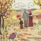 Bucilla Homestead Crewel Embroidery Kit Farm Fall Barn Trees Nature Linen 24 x 28