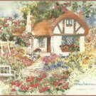 Dimensions Garden Cottage Stamped Cross Stitch Kit Floral 16 x 14 Aida