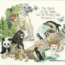 The Earth Is Our Home Cross Stitch Kit Dimensions Animals Wildlife Conservation Green Peace 14 x 12