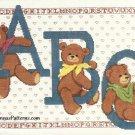 ABC Teddy Bear Cross Stitch Kit 14 x 18 Aida Vintage Paragon Baby Nursery Picture