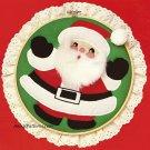 Santa Claus Hoop Applique 10 Inch Christmas Holiday Craft Vintage Designs For Needle