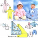Simplicity Sewing Pattern Baby Bunting Zip One Piece Romper Jacket Pant Blanket 7807