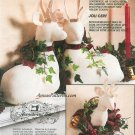 Reindeer Deer Stag Sewing Pattern Stuffed Plush Mantel Wall Mount 6159