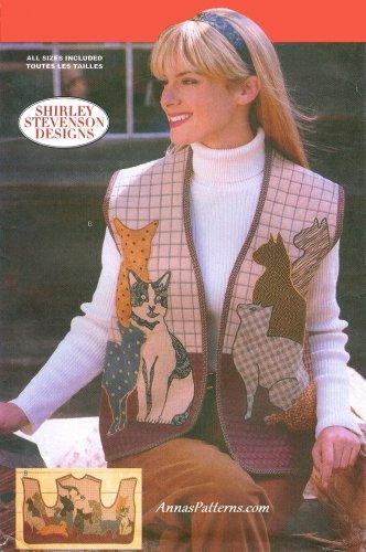 Cat Vest Sewing Pattern Applique Quilt S-XL Kitty Pet Animal Design 5289