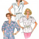 80s Button Front Blouse Top Sewing Pattern 6-14 Kimono Sleeve Oversize Easy Disco Retro 3769