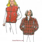 Ski Vest Jacket Sewing Pattern XS-XL Zip Front Pullover Fleece 2638