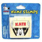 Mickey Mouse Name Stamp Kate 1990 Disney World Florida 1.5 Inch Scrapbook Art Personalize