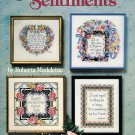 Sentiments Cross Stitch Pattern Design Life Nature Memories Lords Prayer Faith Friends