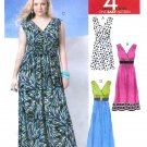 Easy Sleeveless Dress Sewing Pattern 8-16 Raised Bodice Greek Wrap Bodice Maxi 6073 Knee