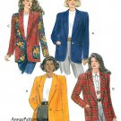 Misses Easy Jacket Sewing Pattern 18-22 Plus Unlined Boxy Loose Shawl Lapel 6356