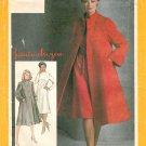 Swing Coat Sewing Pattern 10 Vintage Lined Dress Jacket Mandarin Funnel Neck Tent Shape Trigere 9712