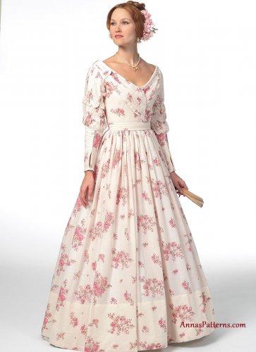 Victorian Elizabethan Dress Costume Sewing Pattern 6-14 Full Skirt Southern Belle 5832