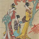 Geisha Embroidery Kit Tea Ceremony Stitchery Asian Stamped Picture Kit 16 x 20