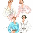 Dress Blouse Sewing Pattern 10-18 Wide Collar Jabot Tie Ruffle Cascade 9922