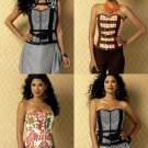 Corset Vest Sewing Pattern Plus 14-22 Sweetheart Neckline Zipper Front Belt 6151