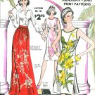 Alfred Shaheen Sewing Pattern 6-18 Hawaiian Shift Dress Button Shoulder Maxi Skirt 101