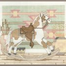 Rocking Horse Cross Stitch Kit Southwest Rustic Cabin Lodge 10 x 8
