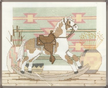 Rocking Horse Cross Stitch Kit Southwest Rustic Cabin Lodge 10 x 8