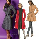 Misses Flared Jacket Coat Sewing Pattern 8-16 Lined Below Hip Princess Seams 5966