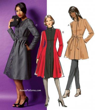 Misses Flared Jacket Coat Sewing Pattern 8-16 Lined Below Hip Princess Seams 5966