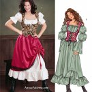 Gypsy Dress Vest Sewing Pattern 18-22 Pirate Peasant Maiden Saloon 3906