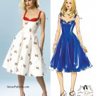 Swing Dress Sewing Pattern 12-20 Plus Sundress Full Skirt 5882