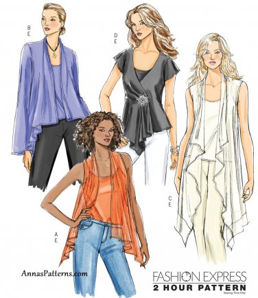 Loose Top Camisole Sewing Pattern 16-22 Plus Scarf Gypsy Flared Easy 4989