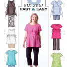 Maternity Clothes Sewing Pattern 8-12 Easy Top Shorts Capris 4201