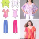 Easy Pullover Top Pants Sewing Pattern 4-26 Butterfly Loose Boho Tunic Blouse 1667