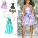 Strapless Party Dress Sewing Pattern 4-12 Prom Formal Long Short McClintock 1655