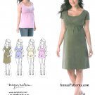 Maternity Dress Sewing Pattern XS XL Nursing Top Sleeveless Long Sleeve 1469