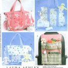 Diaper Bag Sewing Pattern Car Organizer Baby Child Tote Changing Pad Lined Pockets Laura Ashley 4403