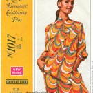 Shift Dress Sewing Pattern Sz 8 Vintage Geoffrey Beene 60s Twiggy Mini 1017