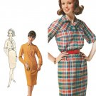 Belted Shirt Dress 1960s Sewing Pattern 16 Plus Vintage Shift Fitted 5053