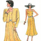 Vintage Vogue Dress Sewing Pattern 8-12 Sundress Bolero Jacket Broad Shoulder 9638