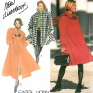 Women's long Coat Sewing Pattern 6-24 Plus Flared Boxy Swing Jacket 7451