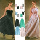 Formal Evening Dress Sewing Pattern 12-18 Prom Strapless Tank Skirt 9945