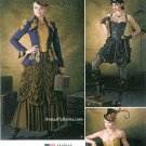 Steampunk Goth Dress Plus Sewing Pattern 14-22 Corset Bustier Vixen Saloon Jacket 1248