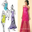 Fitted Dress Sewing Pattern 14-22 Plus Halter Strapless Fitted Prom Evening Dance 1416