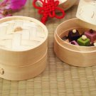 """6"""" Inch Bamboo Steamer - 2 Tiers"""