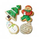 Christmas X-Mas Holiday Fondant Cookie Cutter Plunger Stamp Stencil Press