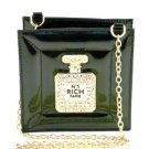 New Perfume Bottle Handbag Rhinestone Black Perfume Bottle Handbag Black Purse