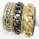 9 Multi Layer Bangles Multi Color Bangle Bracelets Gold Silver Rhodium Bangles