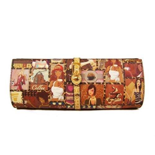 Coffee Shop Theme Magazine Clutch Purse Magazine Clutch Handbag Paparazzi Clutch