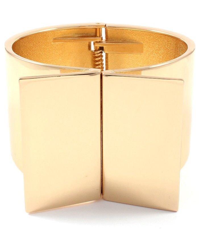 Chunky Wide Gold Bracelet Gold Bracelet Statement Bracelet 1.75 inches wide