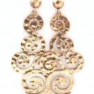 Gold Baroque Earrings Filigree Earrings Swirl Earrings Gold Earrings 3 inches