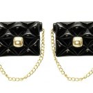 Black Handbag Purse Earrings with Gold Chain Black Earrings Chain Earrings 1.5'
