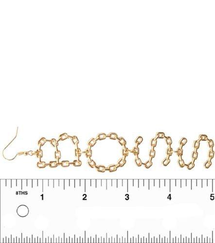 Gold Chain BOSS Earrings Gold Danlgle Statement Earrings Gold Earrings 5 Inches