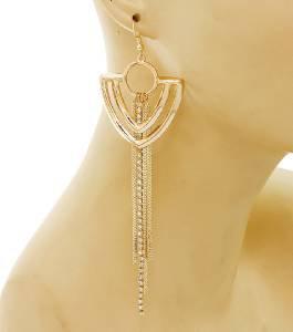 Gold Chain Chevron Earrings Gold Chain Tassel Earrings Gold Chain Earrings 5'